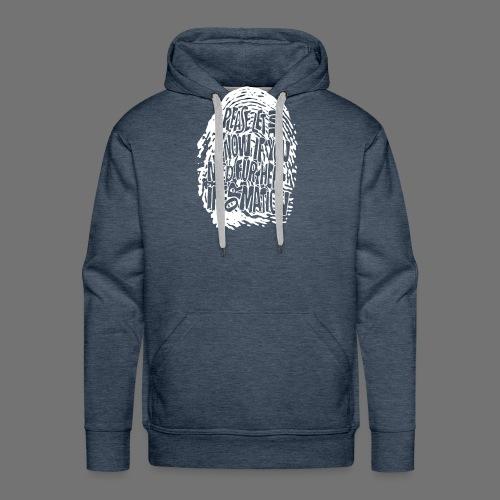 Fingerprint DNA (white) - Men's Premium Hoodie