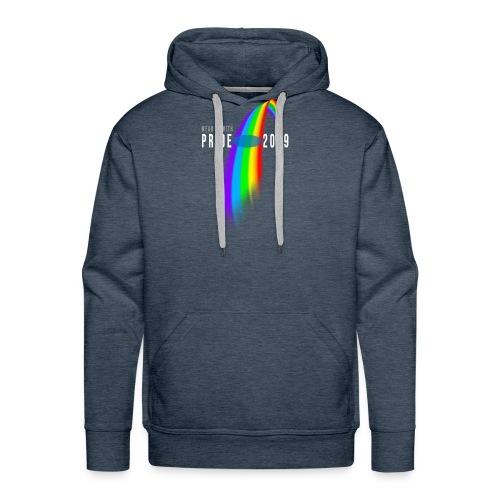 fyll inn navn selv pride rainbow b mlo transpare - Premium hettegenser for menn