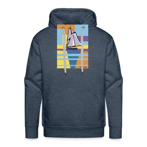Au large, aube - Sweat-shirt à capuche Premium pour hommes