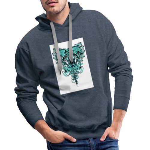 tee template426 - Sweat-shirt à capuche Premium pour hommes