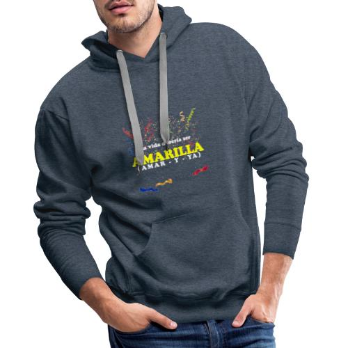 Amarilla - Sudadera con capucha premium para hombre