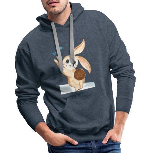 A coniglio - Felpa con cappuccio premium da uomo
