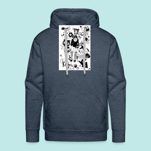 japanese girl : mess idea - Sweat-shirt à capuche Premium pour hommes