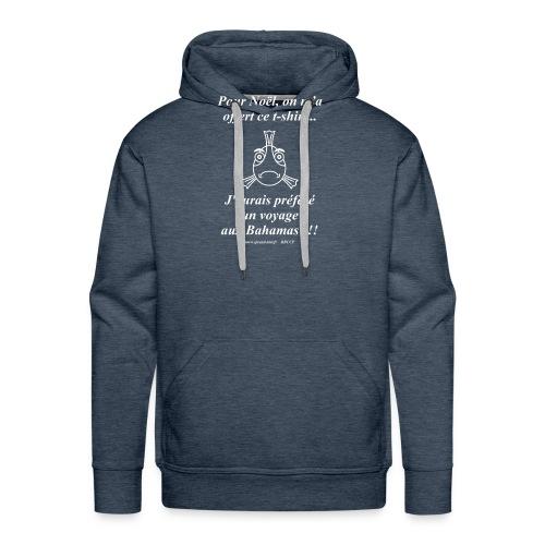 Noel aux Bahamas Texte Blanc - Sweat-shirt à capuche Premium pour hommes