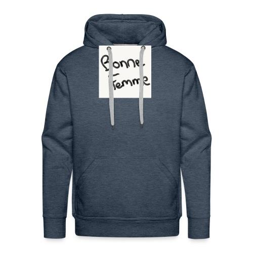 BonneFemme - Sweat-shirt à capuche Premium pour hommes