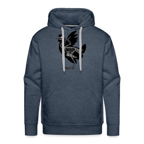 Huhn-Skelett - Bluza męska Premium z kapturem