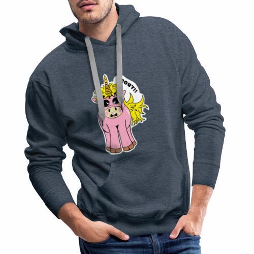 Unicorn female mistake - Sweat-shirt à capuche Premium pour hommes