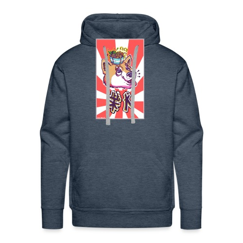 Shiba soleil levant - Sweat-shirt à capuche Premium pour hommes