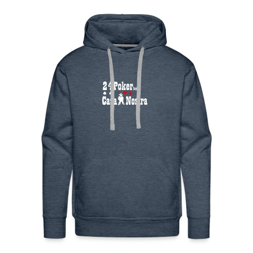 nur logo white 01 - Männer Premium Hoodie
