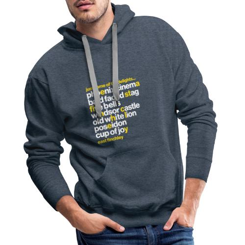 Just some of the delights of East Finchley - Men's Premium Hoodie