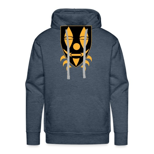 Mask only gold n black png - Mannen Premium hoodie