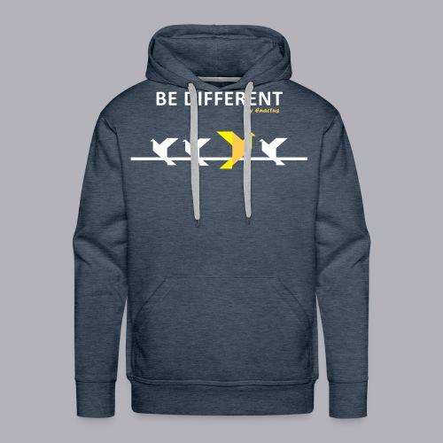 Be different - Sweat-shirt à capuche Premium pour hommes