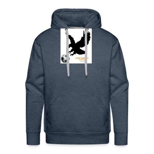 Aguila norteamericana con balón de fútbol - Sudadera con capucha premium para hombre