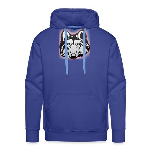 Wolfie (Red) - Men's Premium Hoodie