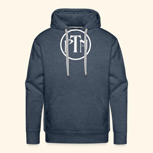 PTN-Music Logo Weiss - Männer Premium Hoodie
