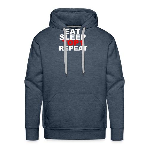 EAT SLEEP TOP 1 REPEAT - Sweat-shirt à capuche Premium pour hommes