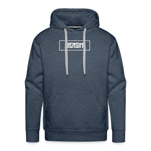 White BenSim Logo - Sweat-shirt à capuche Premium pour hommes