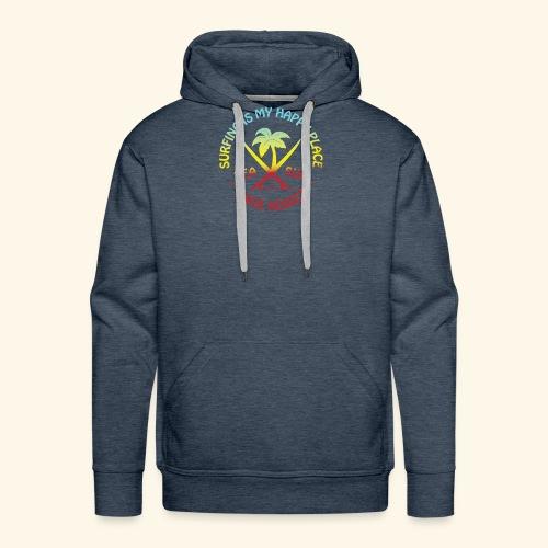 Surfing Is My Happy Place - Sweat-shirt à capuche Premium pour hommes