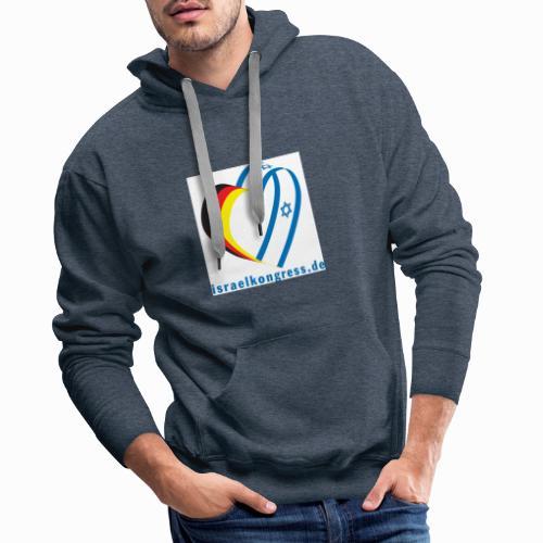 Deutscher Israelkongress Herz Logo - Männer Premium Hoodie