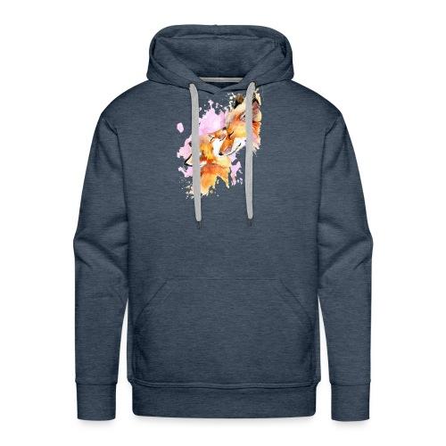 Love my fox - Sweat-shirt à capuche Premium pour hommes
