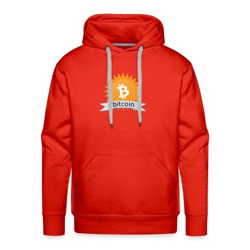 Bitcoin logo - Mannen Premium hoodie
