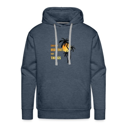 collect moments not things - orange-gelb / schwarz - Männer Premium Hoodie