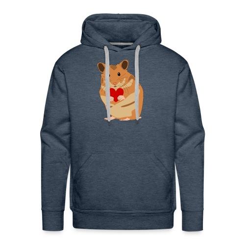 Hamster mit Herz - Hamsterliebe - Hamsterfan - Männer Premium Hoodie