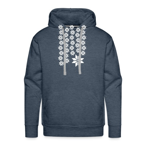 33 Schneeflocken Norweger Muster - Männer Premium Hoodie