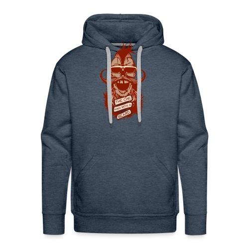 tete de mort hipster skull crane citation chic man - Sweat-shirt à capuche Premium pour hommes