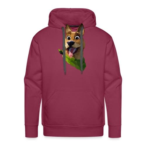 LOW POLY DOGO - Sweat-shirt à capuche Premium pour hommes