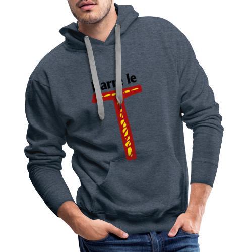 barre le t - Sweat-shirt à capuche Premium pour hommes