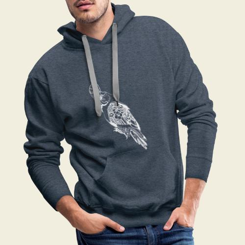 Kakadu weiß - Männer Premium Hoodie