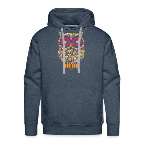 PÖLLÖPERHE OWL FAMILY - Funny textiles and Gifts - Miesten premium-huppari