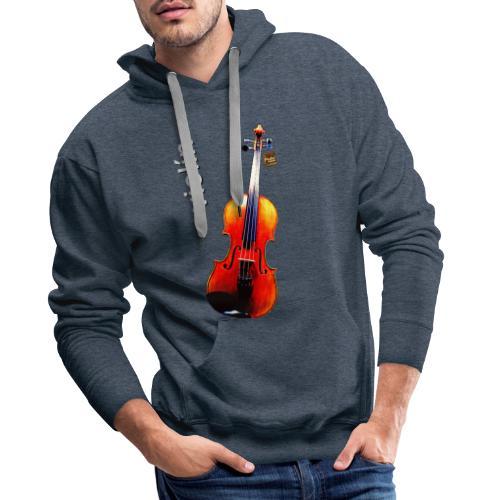 Violín - Sudadera con capucha premium para hombre