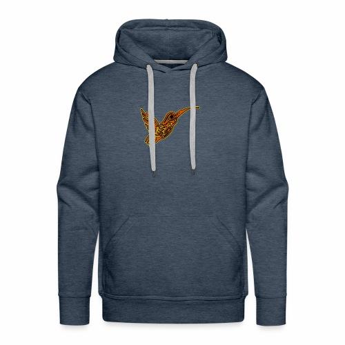 Colibri tête de mort rouge - Sweat-shirt à capuche Premium pour hommes