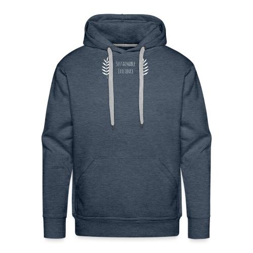 Sustainable Existence Logo (White) - Men's Premium Hoodie