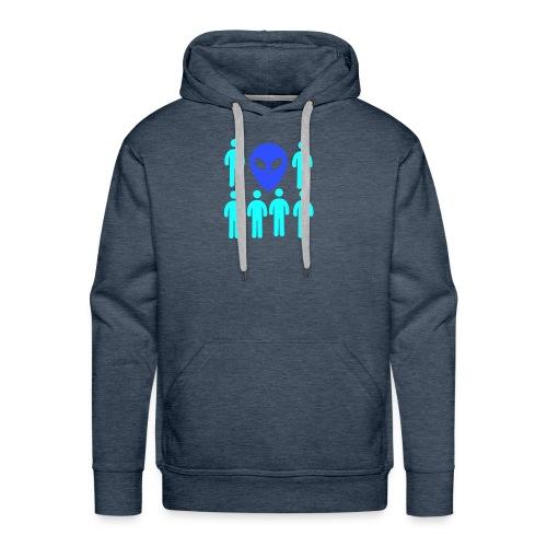 Extraterestre y Humano - Sudadera con capucha premium para hombre