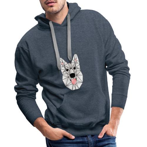 Wild White Wolf - Männer Premium Hoodie