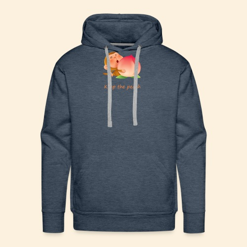 Monkey Keep the peach - Sweat-shirt à capuche Premium pour hommes