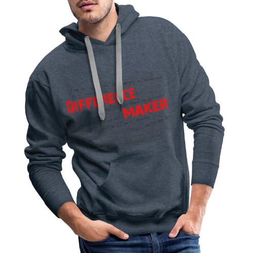 Difference Maker dunkel - Männer Premium Hoodie