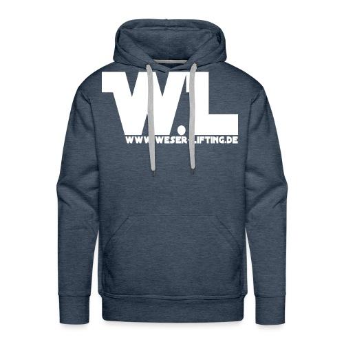 WL - vorn - weis - Männer Premium Hoodie