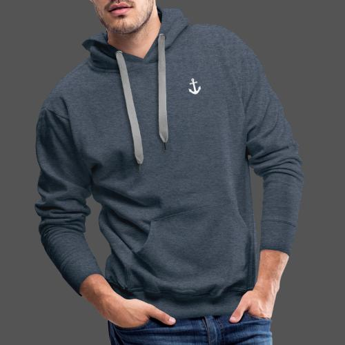 Anker Design T shirt Klassischer weißer Anker - Männer Premium Hoodie