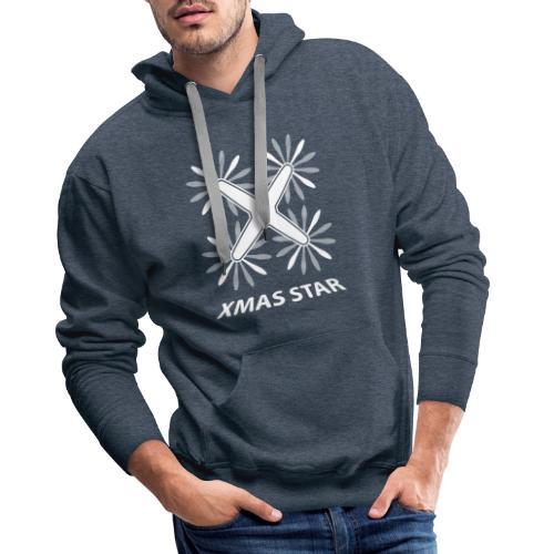 Nouvelle étoile de Noël (version blanche) - Sweat-shirt à capuche Premium pour hommes