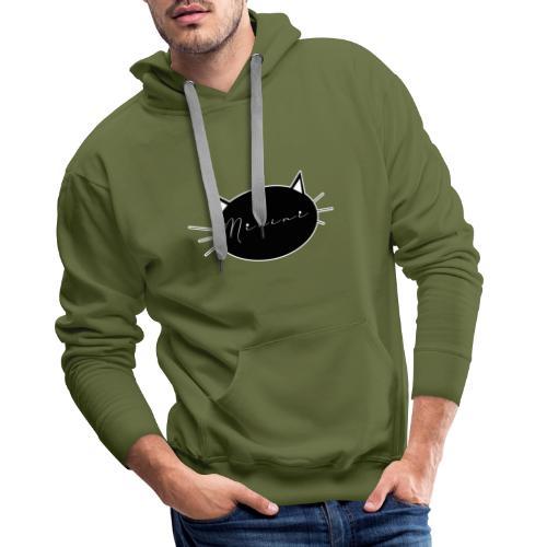 Micini logo - Felpa con cappuccio premium da uomo
