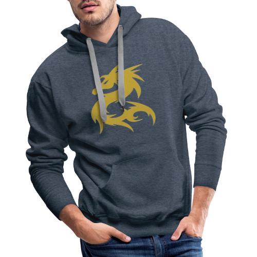 Dragon color de oro - Sudadera con capucha premium para hombre