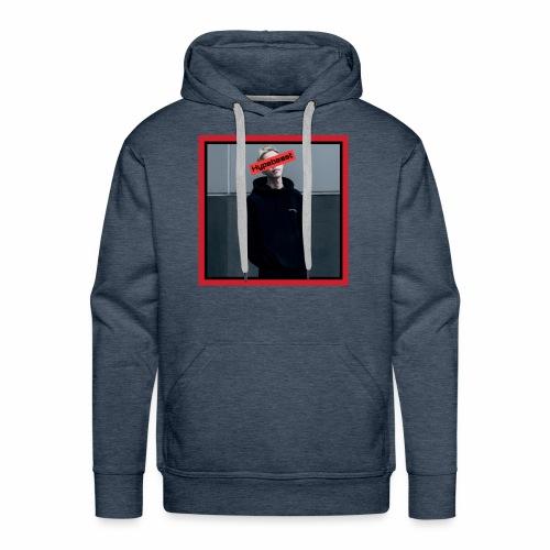 HB #1 red&black box - Felpa con cappuccio premium da uomo