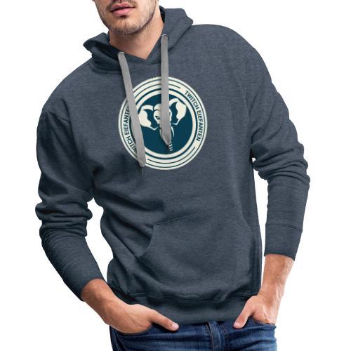 Rundt logo - Herre Premium hættetrøje