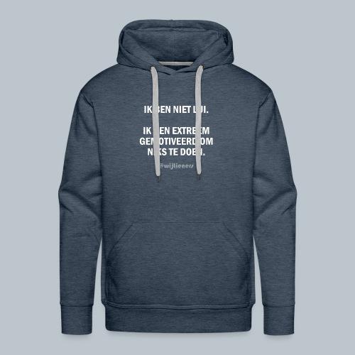 SHIRT 1 ~ Instagram @wijtieners - Mannen Premium hoodie