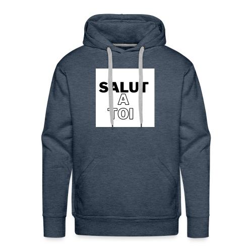 salut 3 - Sweat-shirt à capuche Premium pour hommes
