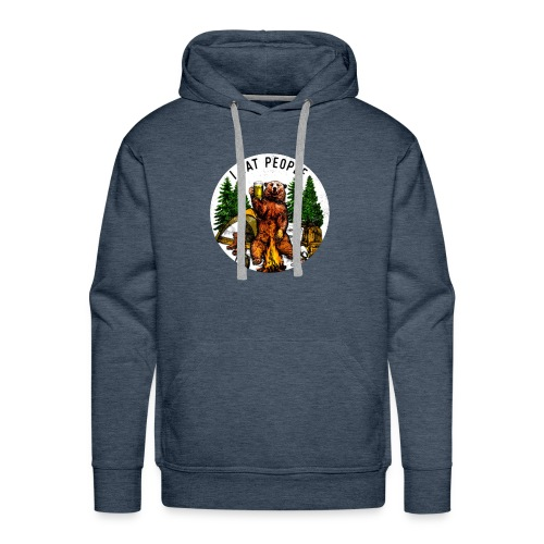 I Hate People Camping Hiking Here - Mannen Premium hoodie